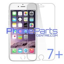 Tempered glass premium kwaliteit 0.3MM 2.5D - zonder verpakking voor iPhone 7 Plus (50 stuks)