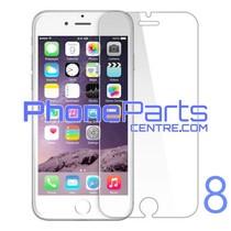 Tempered glass premium kwaliteit 0.3MM 2.5D - zonder verpakking voor iPhone 8 (50 stuks)
