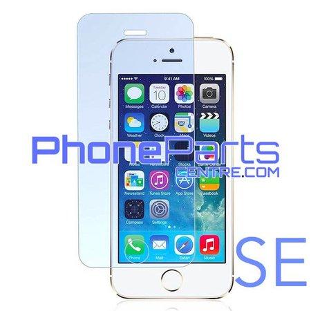 Tempered glass premium kwaliteit 0.3MM 2.5D - zonder verpakking voor iPhone SE (50 stuks)