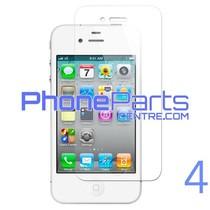 Tempered glass premium kwaliteit 0.3MM 2.5D - winkelverpakking voor iPhone 4 (10 stuks)