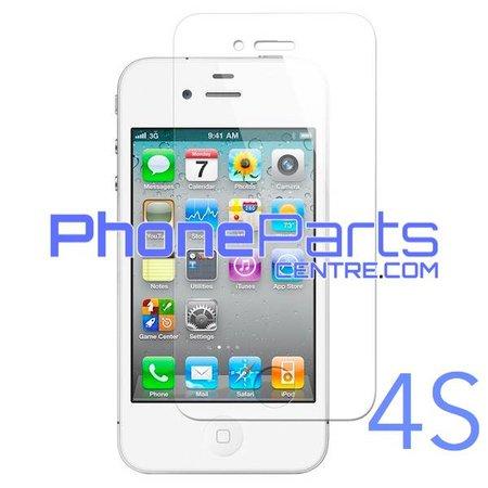 Tempered glass premium kwaliteit 0.3MM 2.5D - winkelverpakking voor iPhone 4S (10 stuks)