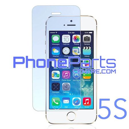 Tempered glass premium quality 0.3MM 2.5D - retail packing for iPhone 5S (10 pcs)