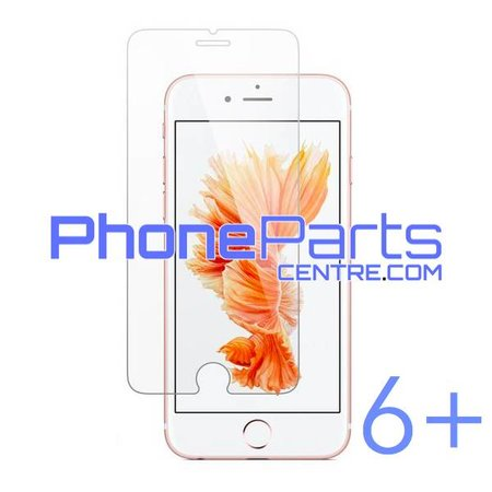 Tempered glass premium quality 0.3MM 2.5D - retail packing for iPhone 6 Plus (10 pcs)