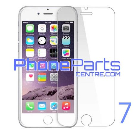 Tempered glass premium quality 0.3MM 2.5D - retail packing for iPhone 7 (10 pcs)