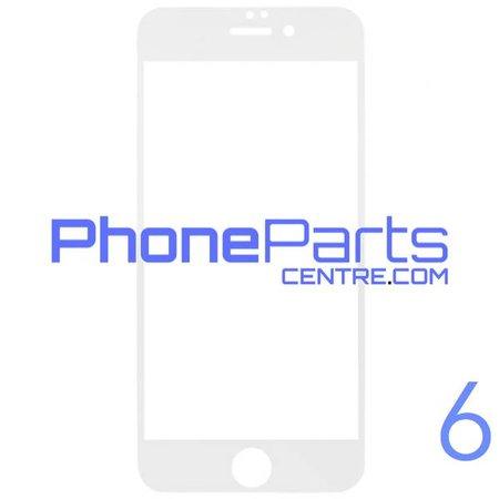 6D glas - witte winkelverpakking voor iPhone 6 (10 stuks)