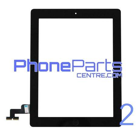 Touchscreen / glazen voorkant / home button voor iPad 2 (2 stuks)
