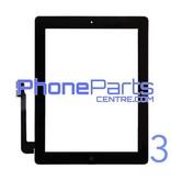 Touchscreen / glazen voorkant / home button voor iPad 3 (2 stuks)