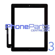 Digitizer / glass lens / home button for iPad 3 (2 pcs)