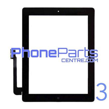 Digitizer / glass lens / home button for iPad 3 (2 pcs)
