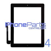 Touchscreen / glazen voorkant / home button voor iPad 4 (2 stuks)