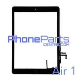 Touchscreen / glazen voorkant / home button voor iPad Air 1 (2 stuks)