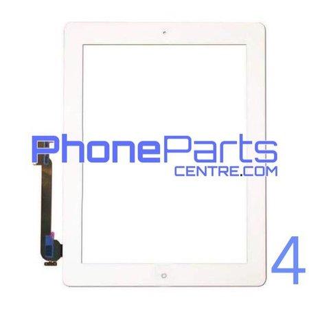 Digitizer / glass lens / home button for iPad 4 (2 pcs)