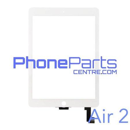 Touchscreen / glazen voorkant / home button voor iPad Air 2 (2 stuks)