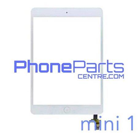 Touchscreen / glazen voorkant / home button voor iPad mini 1 (2 stuks)