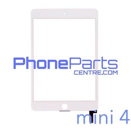 Touchscreen / glazen voorkant / home button voor iPad mini 4 (2 stuks)