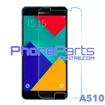 A510 Tempered glass premium kwaliteit - winkelverpakking voor Galaxy A5 (2016) - A510 (10 stuks)
