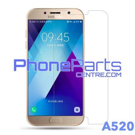 A520 Tempered glass premium kwaliteit - zonder verpakking premium quality voor Galaxy A5 (2017) - A520 (50 stuks)