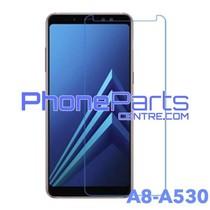A530 Tempered glass premium kwaliteit - zonder verpakking premium quality voor Galaxy A8 (2018) - A530 (50 stuks)