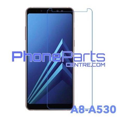 A530 Tempered glass premium kwaliteit - winkelverpakking voor Galaxy A8 (2018) - A530 (10 stuks)