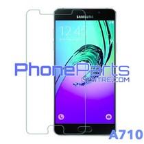 A710 Tempered glass premium kwaliteit - zonder verpakking premium quality voor Galaxy A7 (2016) - A710 (50 stuks)