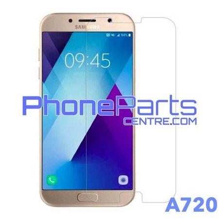 A720 Tempered glass - winkelverpakking voor Galaxy A7 (2017) - A720 (10 stuks)