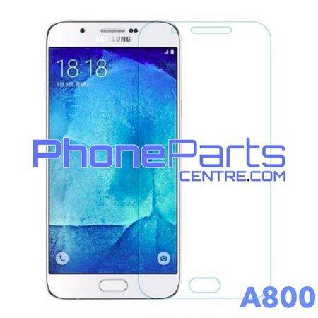 A800 Tempered glass premium kwaliteit - zonder verpakking premium quality voor Galaxy A8 (2015) - A800 (50 stuks)