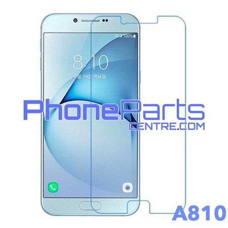 A810 Tempered glass premium kwaliteit - winkelverpakking voor Galaxy A8 (2016) - A810 (10 stuks)