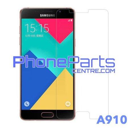 A910 Tempered glass premium kwaliteit - winkelverpakking voor Galaxy A9 Pro (2016) - A910 (10 stuks)