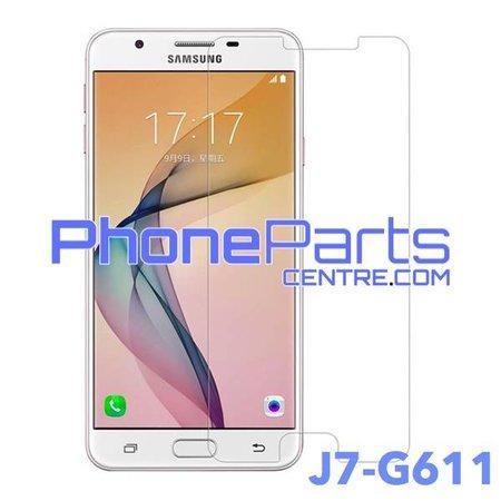 G611 Tempered glass premium kwaliteit - winkelverpakking voor Galaxy J7 Prime 2 (2018) - G611 (10 stuks)