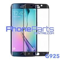 G925 Gebogen tempered glass - zonder verpakking voor Galaxy S6 Edge - G925 (25 stuks)