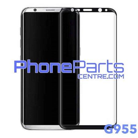G955 Gebogen tempered glass - winkelverpakking voor Galaxy S8 Plus - G955 (10 stuks)