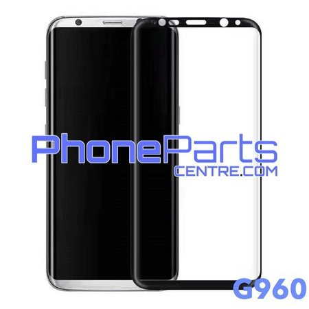 G960 Curved tempered glass - retail packing for Galaxy S9 - G960 (10 pcs)
