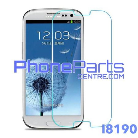 I8190 Tempered glass premium kwaliteit - zonder verpakking voor Galaxy S3 mini (2012) - I8190 (50 stuks)