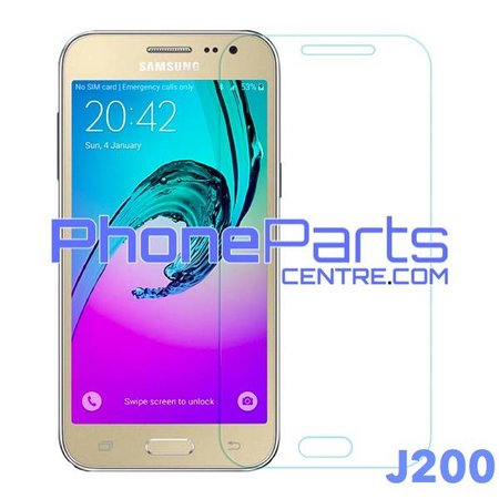 J200 Tempered glass - retail packing for Galaxy J2 (2015) - J200 (10 pcs)