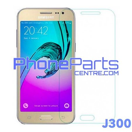 J300 Tempered glass premium quality - retail packing for Galaxy J3 (2015) - J300 (10 pcs)