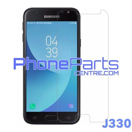 J330 Tempered glass premium quality - no packing for Galaxy J3 (2017) - J330 (50 pcs)