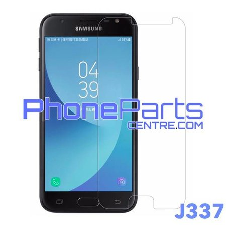 J337 Tempered glass - retail packing for Galaxy J3 (2018) - J337 (10 pcs)