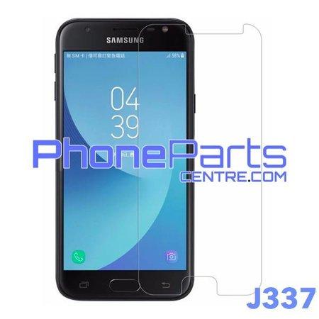 J337 Tempered glass premium kwaliteit - winkelverpakking voor Galaxy J3 (2018) - J337 (10 stuks)