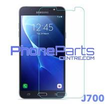 J700 Tempered glass premium kwaliteit - winkelverpakking voor Galaxy J7 (2015) - J700 (10 stuks)