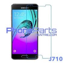 J710 Tempered glass premium kwaliteit - winkelverpakking voor Galaxy J7 (2016) - J710 (10 stuks)