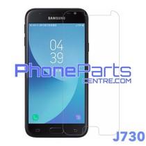 J730 Tempered glass premium kwaliteit - winkelverpakking voor Galaxy J7 Pro (2017) - J730 (10 stuks)