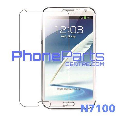 N7100 Tempered glass premium kwaliteit - zonder verpakking voor Galaxy Note 2 (2012) - N7100 (50 stuks)