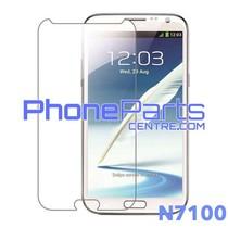 N7100 Tempered glass premium kwaliteit - winkelverpakking voor Galaxy Note 2 (2012) - N7100 (10 stuks)