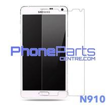 N910 Tempered glass premium kwaliteit - winkelverpakking voor Galaxy Note 4 (2014) - N910 (10 stuks)