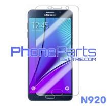 N920 Tempered glass premium kwaliteit - winkelverpakking voor Galaxy Note 5 (2015) - N920 (10 stuks)