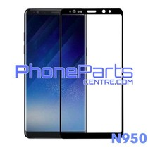 N950 Gebogen tempered glass - winkelverpakking voor Galaxy Note 8 - N950 (10 stuks)