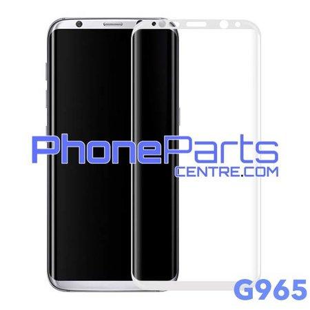 G965 Gebogen tempered glass - winkelverpakking voor Galaxy S9 Plus - G965 (10 stuks)