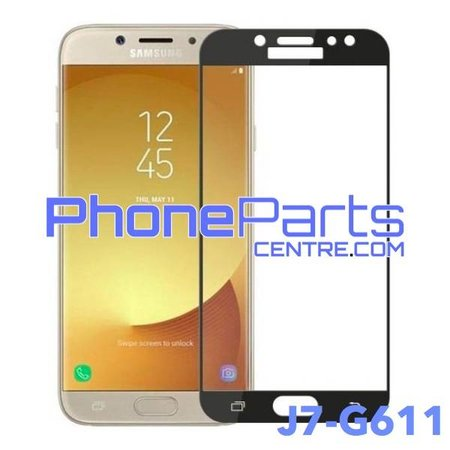 G611 5D tempered glass premium quality - no packing for Galaxy J7 Prime 2 (2018) - G611 (25 pcs)