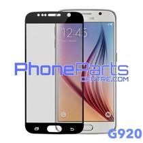 G920 5D tempered glass premium kwaliteit - zonder verpakking voor Galaxy S6 (2015) - G920 (10 stuks)