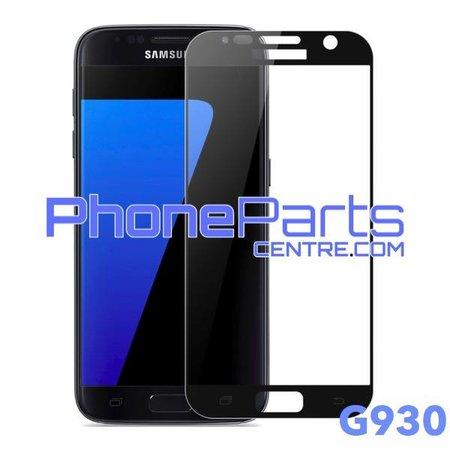 G930 5D tempered glass premium kwaliteit - zonder verpakking voor Galaxy S7 (2016) - G930 (25 stuks)